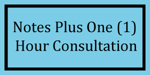 Notes + 1 Hour Consultation Logo