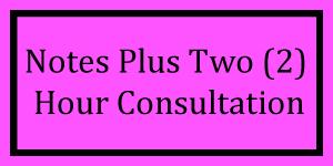 Notes + 2 Hour Consultation Logo