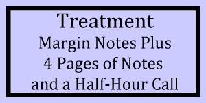 Treatment Margin Notes + 4 Pages + Half Hour Call Logo