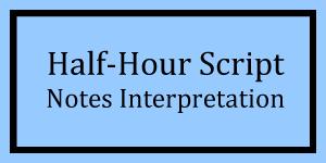 Half-Hour Notes Interpretation Logo