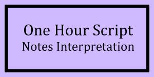 One Hour Notes Interpretation Logo
