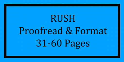 RUSH Proofread & Format 31-60 Pages Logo